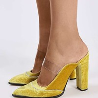 **VALIANT Mule Pointed Court Shoes by Unique - Shoes