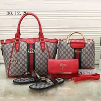 GUCCI 2018 trendy women high quality exquisite four-piece fashion F-KSPJ-BBDL red