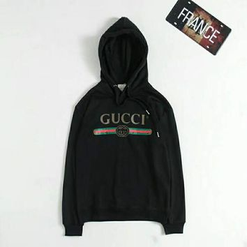GUCCI hoodies Pullover Men Brand Tops With Long Sleeve hooded sweater Embroidery sweatshirt Winter Mens Clothing