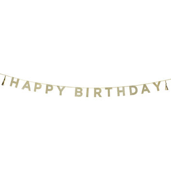 Talking Tables Say It With Glitter ' Happy Birthday' Banner