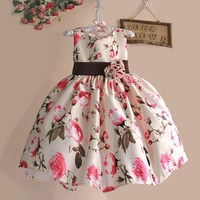 Rustic Rose Girl's Silk / Party Special Occasion Dress sz 2T - 6 Children's Clothing Floral Dresses Baby Toddler Girls Wedding