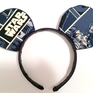 Custom Star Wars Navy Minnie Mouse Ears
