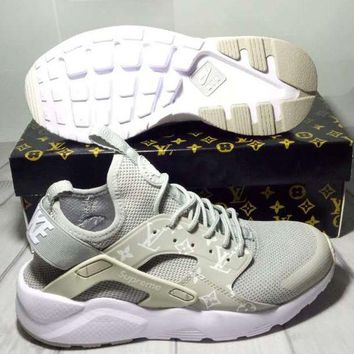 NIKE/LV AIR HUARACHE Fashion Running Sports Shoes men and women