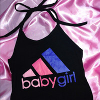 SWEET LORD O'MIGHTY! OG BABYGIRL HALTER IN BLACK