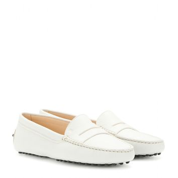 tod's - gommini leather loafers