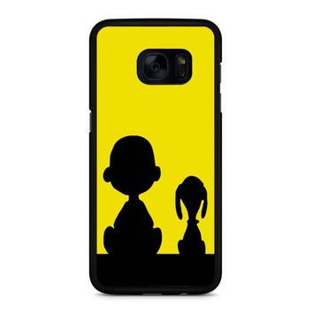 Snoopy And Charlie Brown Samsung Galaxy S7 Edge Case