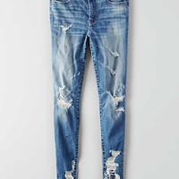 AEO Denim X Hi-Rise Jegging, Shredder Indigo