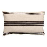 Linen-blend cushion cover - Natural white/Striped - Home All | H&M GB