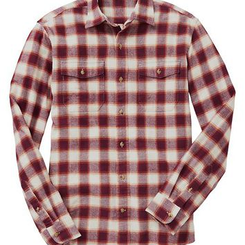 Gap Men Factory Print Flannel Shirt