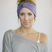 Girl's Jersey Headband, Knotted Head Wrap, Twisted Hair Wrap, Women's  Hair Accessories, Matte Jersey Turband in Dusty Purple (HB-3839)