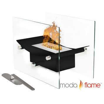 Cavo Table Top Ventless Bio Ethanol Fireplace Black