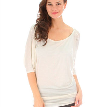 Everyday Dolman Top - Ivory