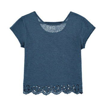 Scalloped Lace-Hem Top (Kids)