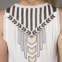 Back Embroidered Detail Top