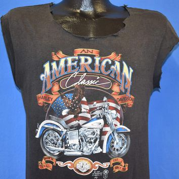 80s 3D Emblem Harley Davidson Motorcycle Supply t-shirt Small