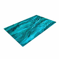 "Ebi Emporium ""Marble Idea! - Light Teal Aqua"" Aqua Blue Woven Area Rug"
