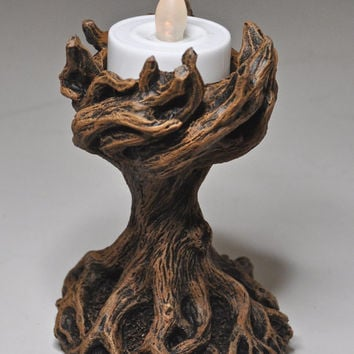 Yggdrasil the World Tree Tealight Holder