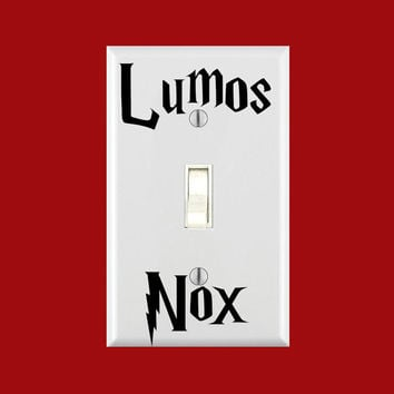 Lumos Nox Light Switch Vinyl Decals- FREE SHIPPING