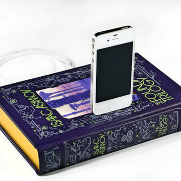 The Foundation Trilogy Book Charger for iPhone by CANTERWICK