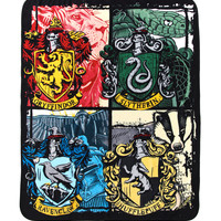 Harry Potter Hogwarts Houses Throw