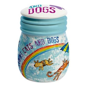 CR Gibson Raining Cats and Dogs Treat Jar