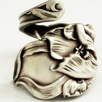 Sterling Silver Tulip Floral Spoon Ring by Fessenden by Spoonier