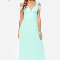 LULUS Exclusive Dreamed to Life Light Blue Maxi Dress