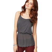 Scalloped Shine Cami
