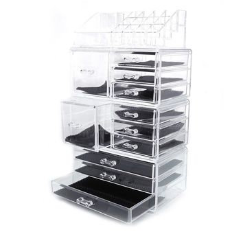 New Acrylic Cosmetic Organizer Makeup Case Holder Drawers Jewelry Storage Box