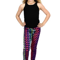 Dirtee Hollywood Rainbow Chevron Leggings | Mod Angel