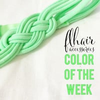 Color of the week: Comfortable Childrens to Adults Recycled Stretch T-shirt Sailor Knot Headbands - Soft elastic no mark headache free