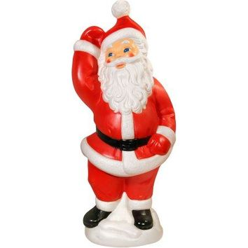 Dancing Santa Claus , Lighted Plastic Blow Mold, Light Up Outdoor Yard Christmas Decoration