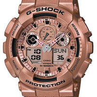 Casio G-Shock Mens LG Analog Digital Chronograph - Rose-Gold - Shock Resistant
