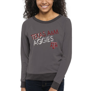 Texas A&M Aggies Women's Crazy Love Boat Neck Long Sleeve T-Shirt – Charcoal