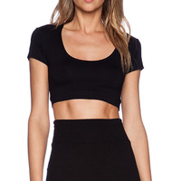Only Hearts So Fine Crop Top in Black