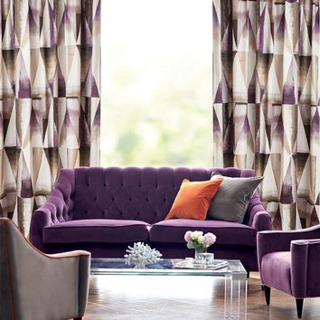 Drapes with Purple Geometry Dream