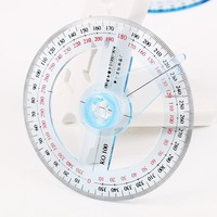 2 PCS New Tool 360 Degree Pointer Protractor Round Transparent Drafting Supplies Protractor Office and School Supplies