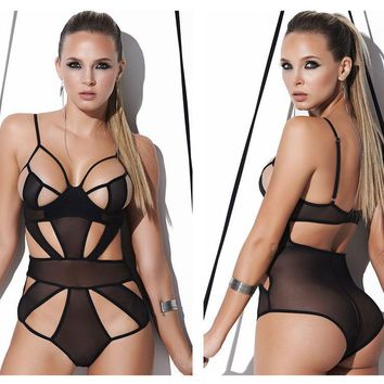 8213 Sheer Mesh Teddy