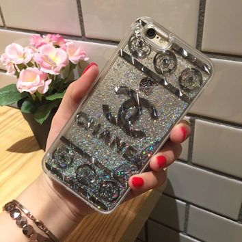 Chanel Fashion Personality Shining iPhone Phone Cover Case For iphone 6 6s 6plus 6s-plus 7 7plus