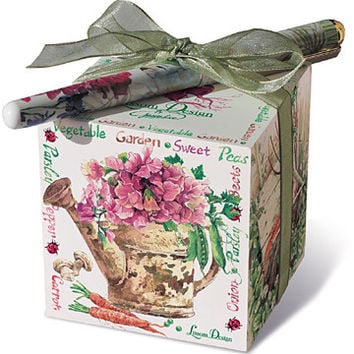 Vegetable Garden Paper Note Block with Designer Pen