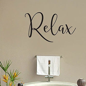 Relax Vinyl Wall Words Decal Sticker Graphic