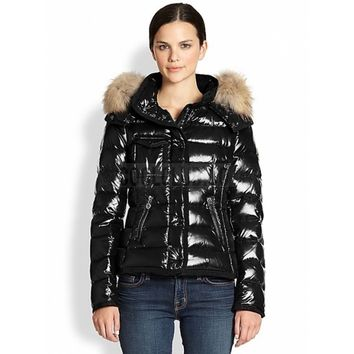 Moncler Armoise Down Jackets Women Black | Coolclub.co