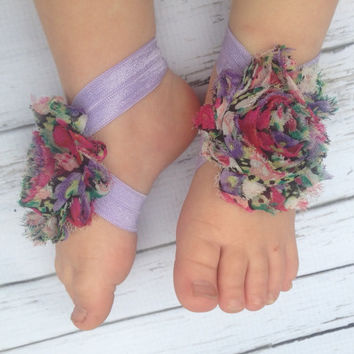 Baby Barefoot Sandals Purple Barefoot Sandals Newborn Sandals