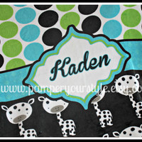 "Personalized Baby or Toddler Plush Blanket - 30"" x 40"" All Themes Available"