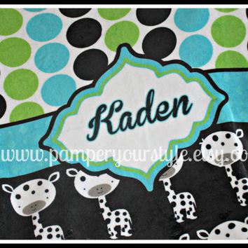 """Personalized Baby or Toddler Plush Blanket - 30"""" x 40"""" All Themes Available"""