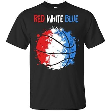 4Th Of July Red White Blue Basketball Lovers Patriotic