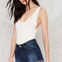Cheap Monday Donna Denim Shorts - Dawn