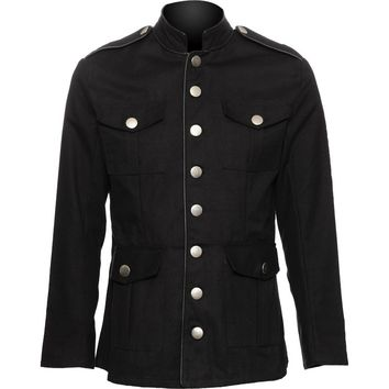 Gothic clothing shop: Raven SDL officers jacket for men