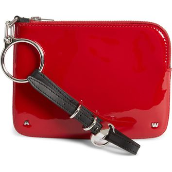 Alexander Wang Small Ace Patent Leather Wristlet | Nordstrom