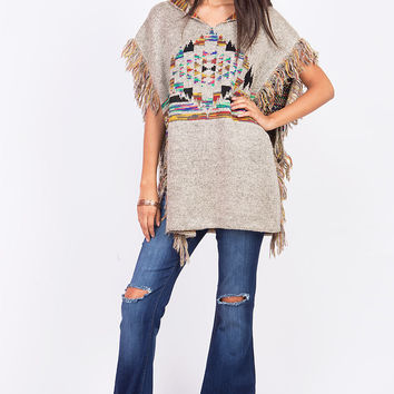 Heirloom Shag Poncho